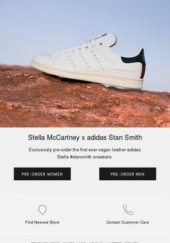 quality design bebbe ea454 New Stella #StanSmith sneakers: back on pre-order | Vegan ...